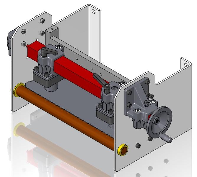 CAD-Baugruppe der neuen Bandführung