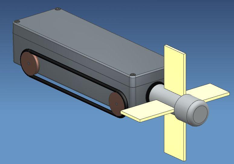Der Dachrinnenreiniger als CAD-Modell