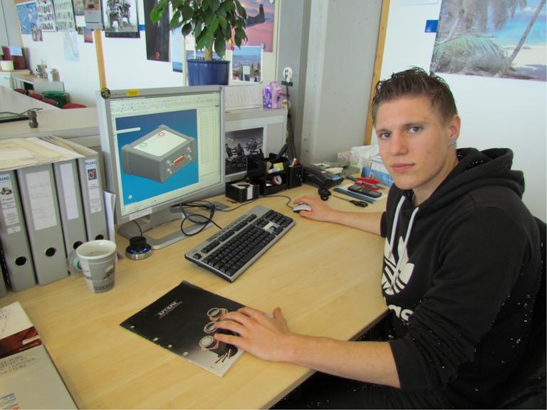 Janick Joel, Konstrukteur 3. Lehrjahr, RUAG Schweiz AG, Thun