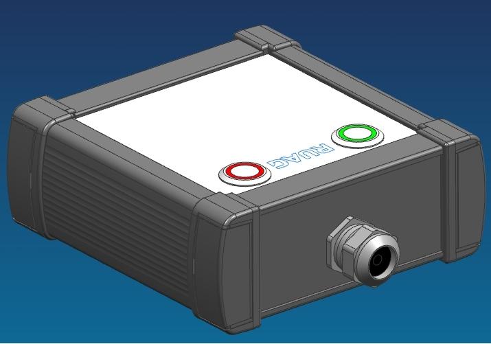 CAD-Baugruppe des Datenerfassungssystems RPAS (Rückseite)