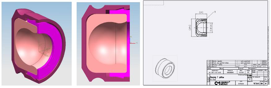 Projekt Pro-Snap: CAD-Modell und Fertigungszeichnung