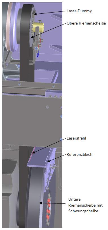 Referenzblech eingebaut (CAD-Modell)