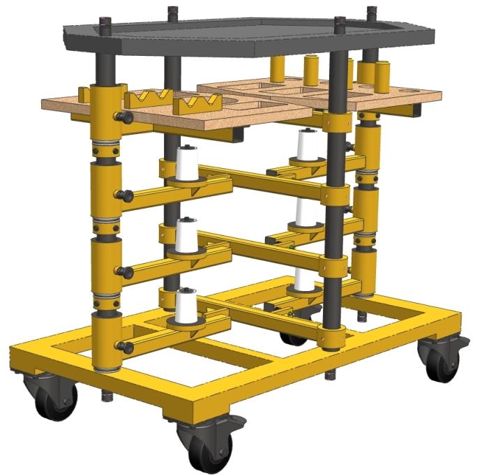 CAD-Modell des neuen Schleifscheibenwagens