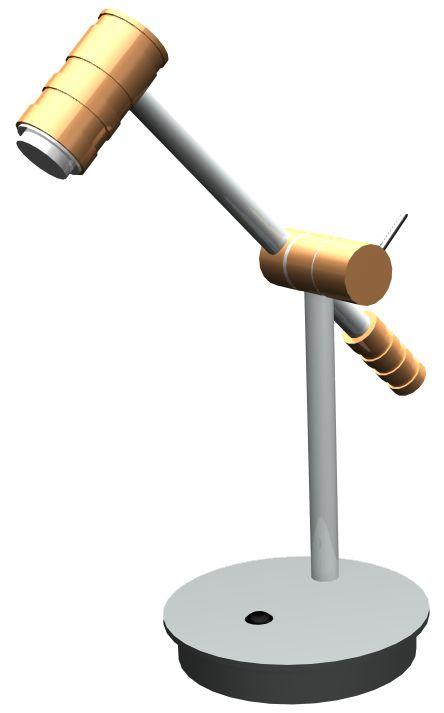 CAD-Baugruppe der Tischlampe