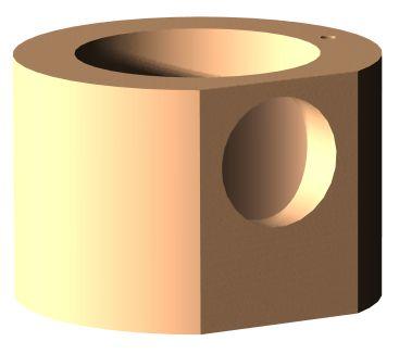 CAD-Modell eines Einzelteils der Tischlampe