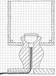 Tischlampe Variantenskizze 1